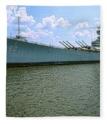 Uss New Jersey Fleece Blanket