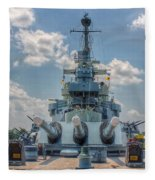 Uss North Carolina Fleece Blanket