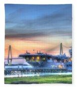 Uss Yorktown Fleece Blanket