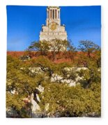Ut Tower Fleece Blanket