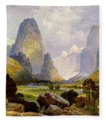 Utah Mountains Fleece Blanket