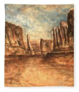 Utah Red Rocks - Landscape Art Fleece Blanket