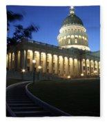 Utah State Capitol Building Fleece Blanket