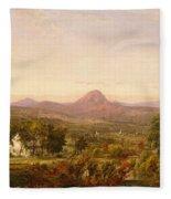 Autumn Landscape Sugar Loaf Mountain. Orange County  New York Fleece Blanket