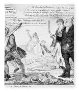 Vaccination Cartoon, 1808 Fleece Blanket