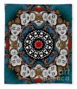 Vajrasattva Mandala Yantra Fleece Blanket