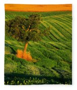 Val D'orcia Tree Fleece Blanket