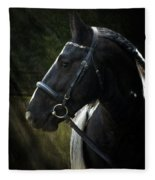 Val Headshot Fleece Blanket
