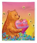 Valentine Baby Bear Fleece Blanket