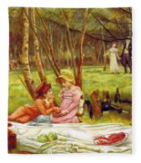 Valentines Day, 1883 Fleece Blanket