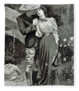 Valentines Day, 1898 Fleece Blanket