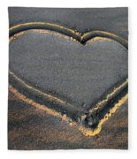 Valentine's Day - Sand Heart Fleece Blanket