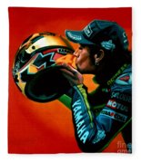 Valentino Rossi Portrait Fleece Blanket
