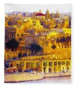 Valletta Capital Of Malta Fleece Blanket