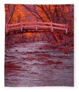 Valley Creek Bridge In Autumn Fleece Blanket