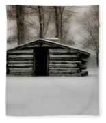 Valley Forge Cabin In Winter Fleece Blanket