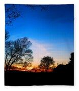 Valley Forge Evening  Fleece Blanket