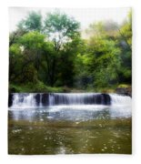 Valley Forge Pa - Valley Creek Waterfall  Fleece Blanket