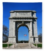 Valley Forge Park Memorial Arch Fleece Blanket