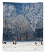 Valley Of Elk Fleece Blanket