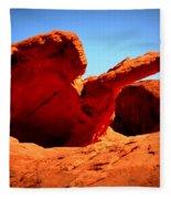 Valley Of Fire Nevada Desert Fleece Blanket