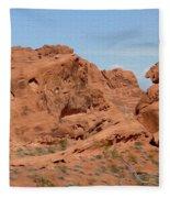 Valley Of Fire Rock Formations Fleece Blanket