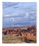 Valley Of Fire Vista Fleece Blanket
