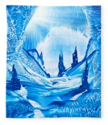 Valley Of The Castles Painting Fleece Blanket