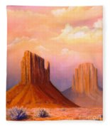 Valley Of The Rocks Fleece Blanket