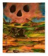 Valley Of The Skulls Fleece Blanket
