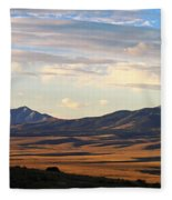 Valley Shadows Snowy Peaks Fleece Blanket