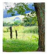 Valley View Along Flat Creek Rd Fleece Blanket