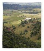 Valley View Of  Atherton Tableland Fleece Blanket