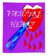 Vampire Heart Fleece Blanket