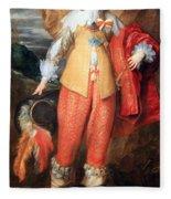 Van Dyck's Henri II De Lorraine Fleece Blanket
