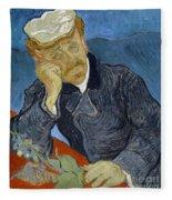 Van Gogh Dr Gachet Fleece Blanket