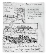Van Gogh Letter, 1888 Fleece Blanket