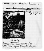 Van Gogh Letter Fleece Blanket