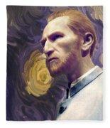Van Gogh Portrait Fleece Blanket