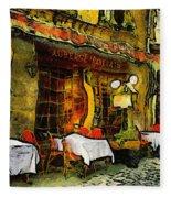 Van Gogh Style Restaurant Fleece Blanket