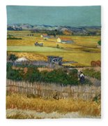 Van Gogh Wheatfield 1888 Fleece Blanket