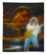 Van Halen-91-ge7a-fractal Fleece Blanket