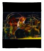 Van Halen-alex-93-gc5-fractal Fleece Blanket