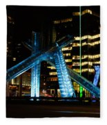 Vancouver - 2010 Olympic Cauldron Lit At Night Fleece Blanket
