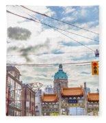 Vancouver China Town Fleece Blanket