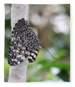 Variable Cracker Butterfly Fleece Blanket