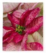 Varigated Poinsettia Fleece Blanket