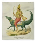 Varuna, God Of The Oceans, Engraved Fleece Blanket