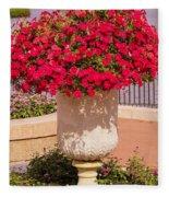 Vase Of Petunias Fleece Blanket