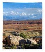 Vast Desert Landscape Fleece Blanket